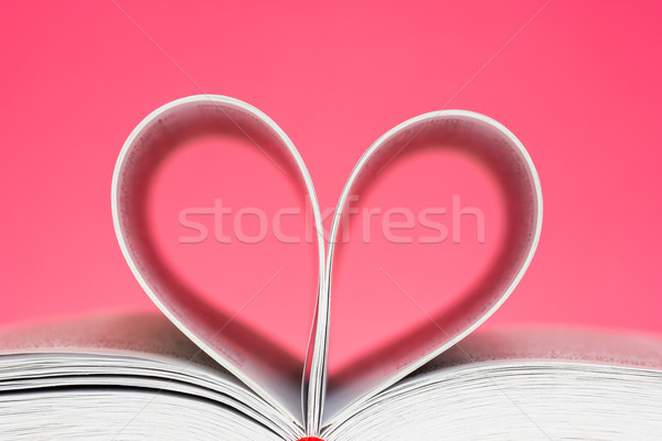 Pages curved into a heart shape  Stock photo © Grazvydas