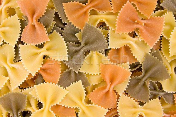 Makaróni közelkép tarka olasz szín eszik Stock fotó © Grazvydas