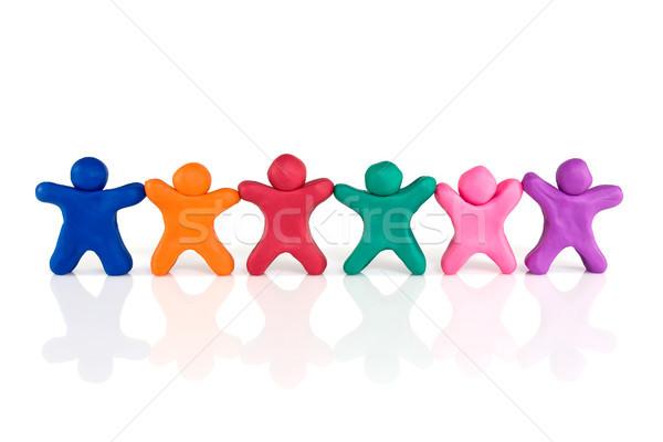 дружбы единения цвета люди Постоянный Сток-фото © Grazvydas