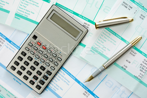income calculation Stock photo © Grazvydas