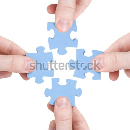 teamwork and partnership  concept Stock photo © Grazvydas