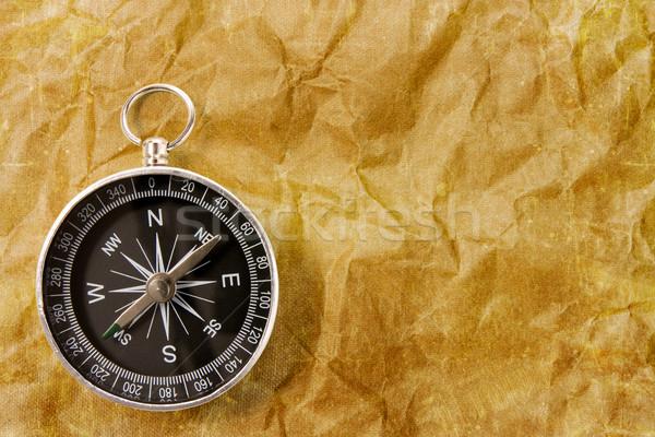 компас Гранж черный бумаги объект направлении Сток-фото © Grazvydas