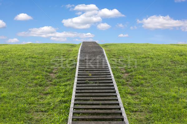 Lépcsőház menny hatalmas lépcsőfeljáró vezető felfelé Stock fotó © Grazvydas