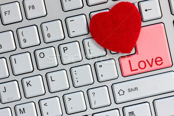 интернет знакомства любви ключевые компьютер Сток-фото © Grazvydas