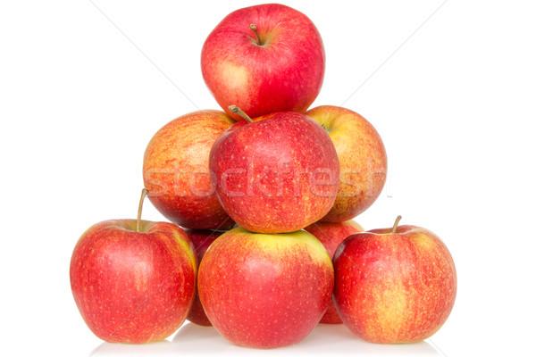 Pyramid of red apples  Stock photo © Grazvydas