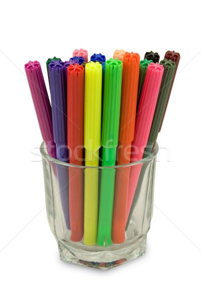 felt tip pens in a glass Stock photo © Grazvydas