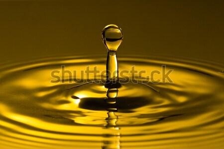 Csobbanás arany tiszta víz cseppecske természet fény Stock fotó © Grazvydas