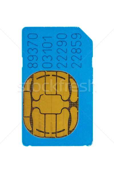 blue gsm phone sim card  Stock photo © Grazvydas