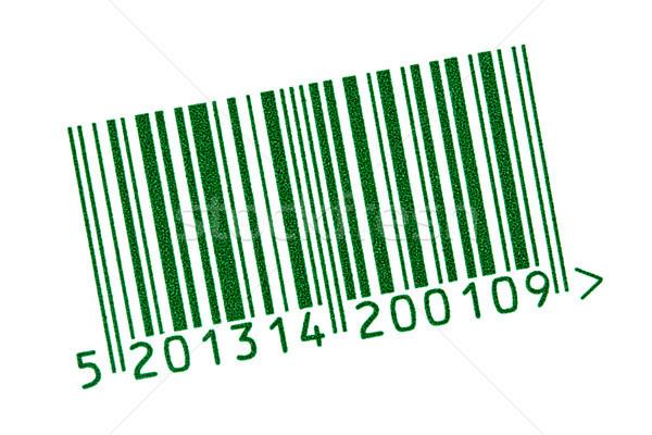 Groene barcode geïsoleerd witte tag producten Stockfoto © Grazvydas