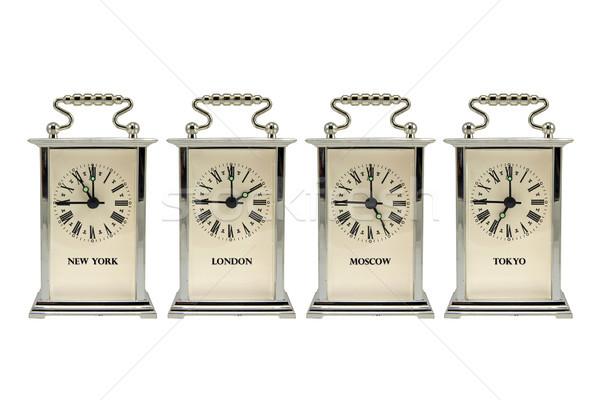 clocks shows the different time zones Stock photo © Grazvydas