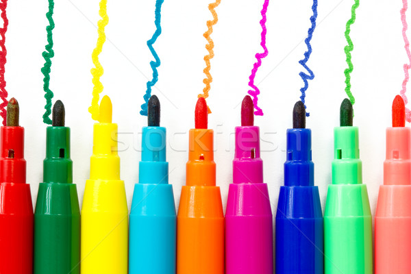 Stock photo: Various color felt-tip pens