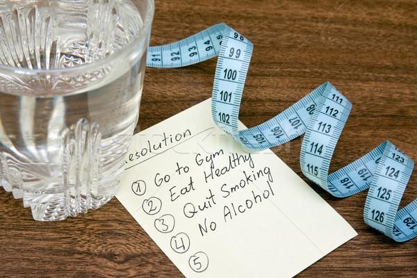 resolutions for healthy life Stock photo © Grazvydas