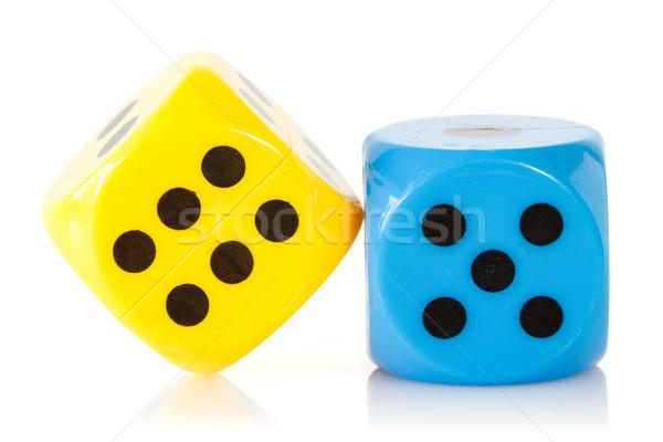 Giallo blu gioco isolato bianco poker Foto d'archivio © Grazvydas