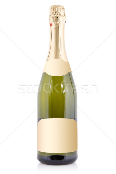 Sparkling wine bottle isolated with blank label Stock photo © Grazvydas