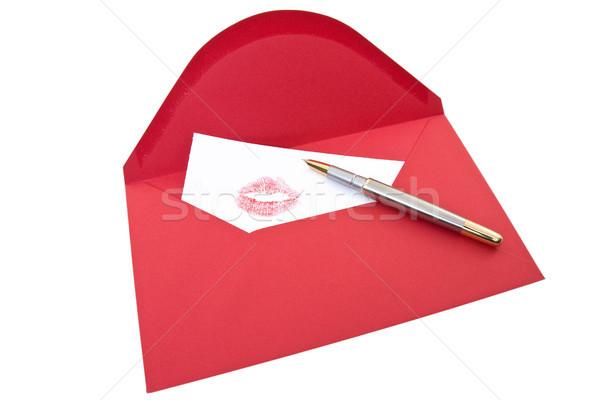 Love Letter and pen Stock photo © Grazvydas