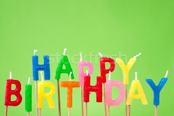 Happy Birthday candle text  Stock photo © Grazvydas