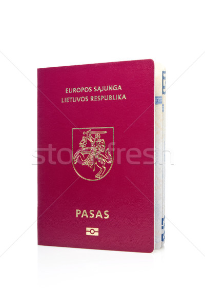 Lithuanian passport Stock photo © Grazvydas