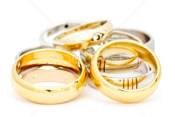 Pile of gold jewelry Stock photo © Grazvydas