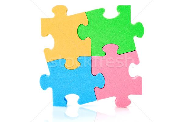 Colorato puzzle bianco pattern gioco oggetto Foto d'archivio © Grazvydas
