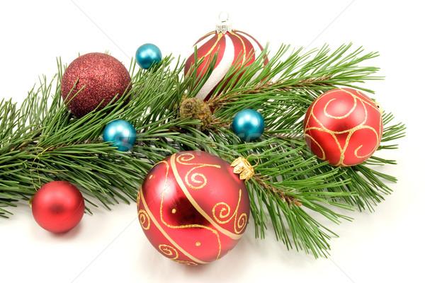 Natale decorazione bianco colorato inverno palla Foto d'archivio © Grazvydas