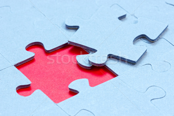 Jigsaw with one piece missing  Stock photo © Grazvydas