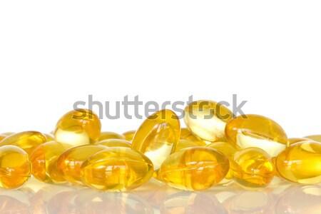 Pile of fish oil capsules  Stock photo © Grazvydas
