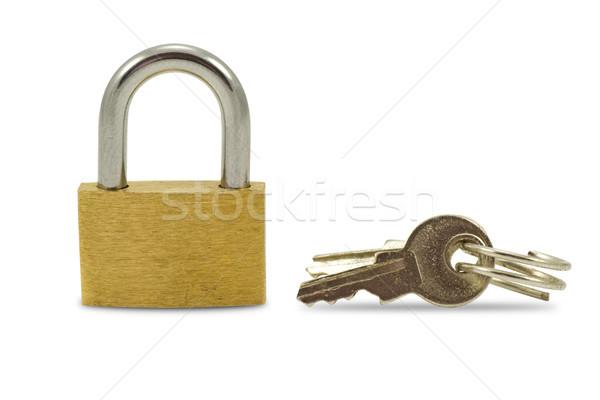 padlock and keys Stock photo © Grazvydas