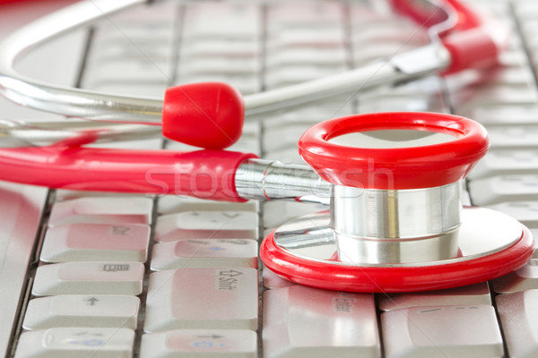Stock photo: Online medicine and IT support