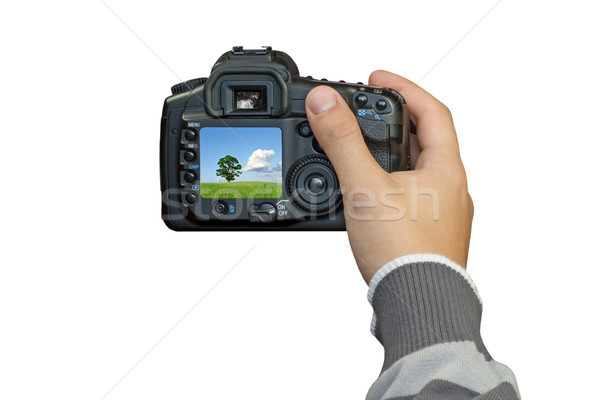 Mano digitale foto fotocamera natura arte Foto d'archivio © Grazvydas