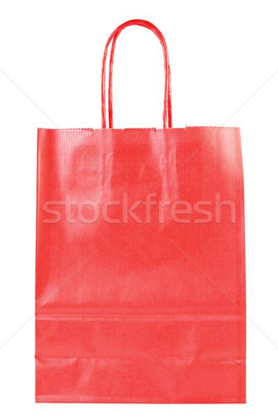 red shopping paper bag  Stock photo © Grazvydas