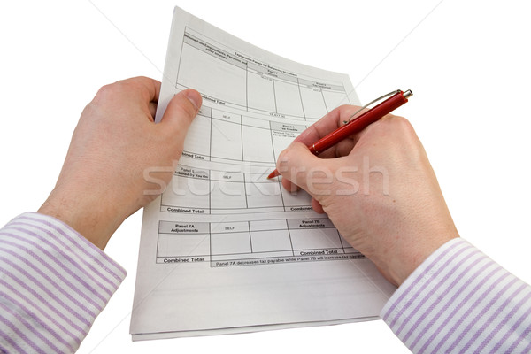 businessman checking tax statement Stock photo © Grazvydas