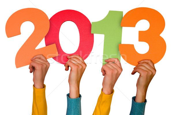 Mani numeri anno 2013 colore futuro Foto d'archivio © Grazvydas