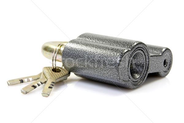 замок ключами белый безопасности объект защиту Сток-фото © Grazvydas