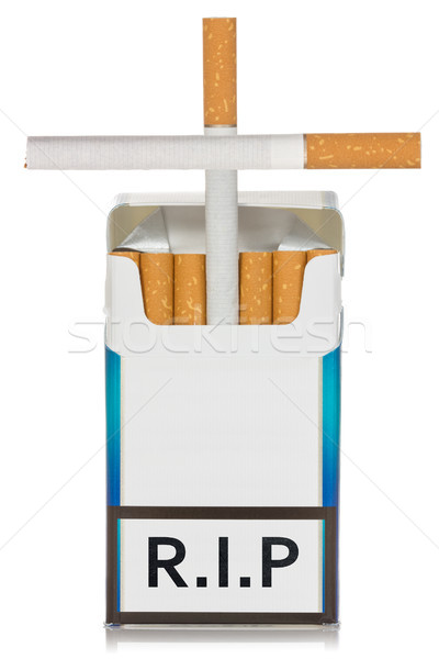 Cigarettes package made as grave Stock photo © Grazvydas
