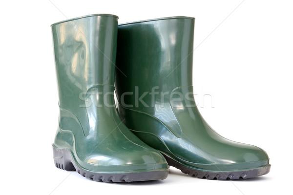Green rubber boots Stock photo © Grazvydas