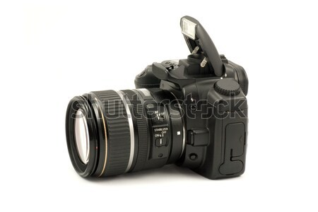 Fotó kamera fehér elem markolás lencse Stock fotó © Grazvydas