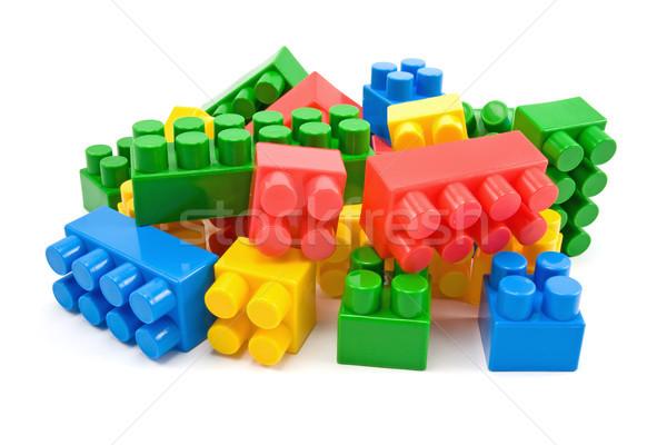 plastic blocks on white background Stock photo © Grazvydas