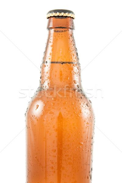 Bierfles bruin geïsoleerd witte bier Stockfoto © Grazvydas