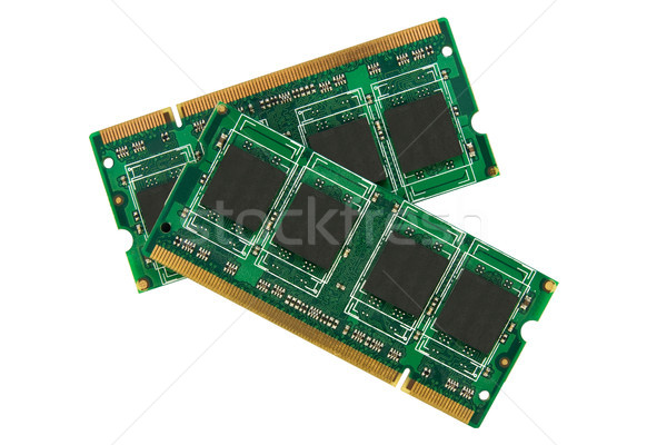 two computer memory modules Stock photo © Grazvydas