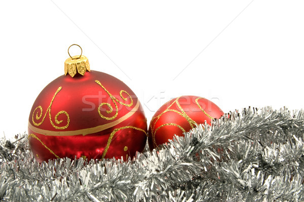 garland with christmas baubles Stock photo © Grazvydas