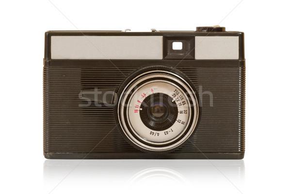 Oude stoffig foto camera geïsoleerd witte Stockfoto © Grazvydas
