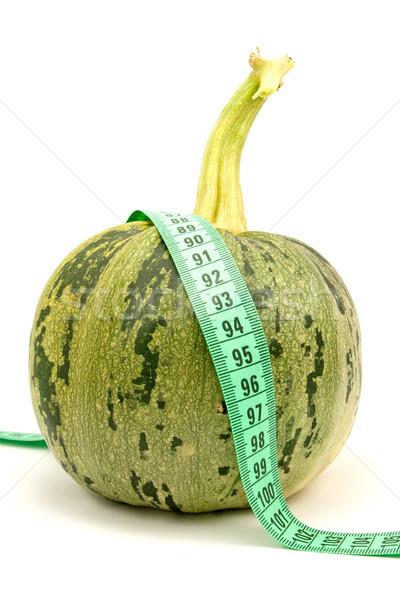 ズッキーニ 巻き尺 白 食品 規模 野菜 ストックフォト © Grazvydas