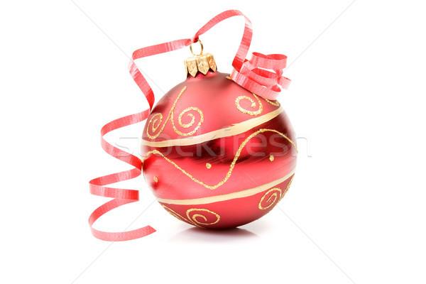 Rosso Natale gingillo bianco vacanze gioia Foto d'archivio © Grazvydas