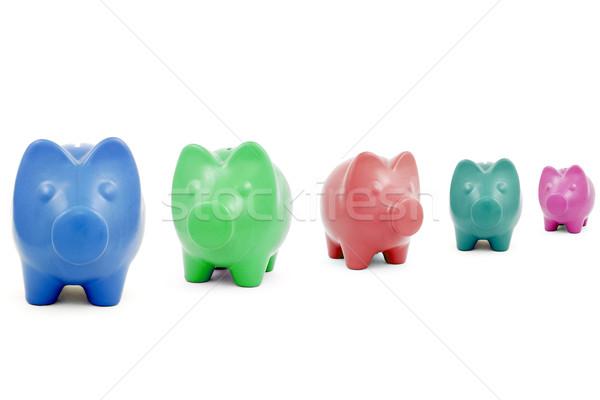 Colorido bancos blanco negocios Foto stock © Grazvydas