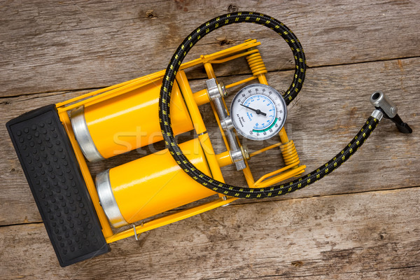 Yellow inflator with gauge  Stock photo © Grazvydas