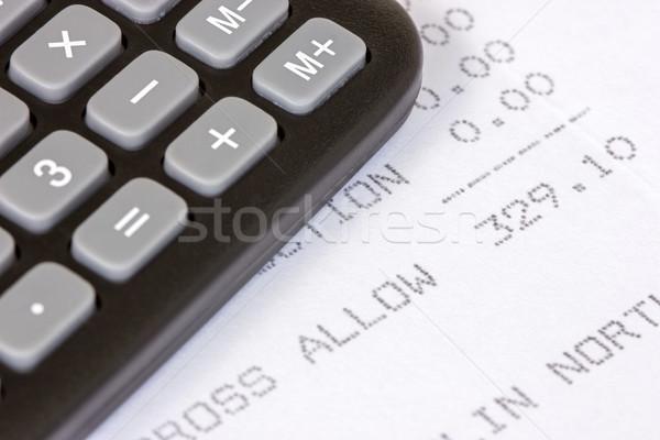 получение пособие черный калькулятор напечатанный бумаги Сток-фото © Grazvydas