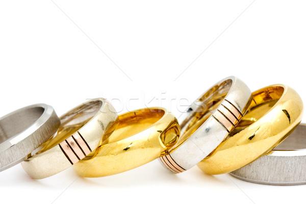 Row of various rings Stock photo © Grazvydas