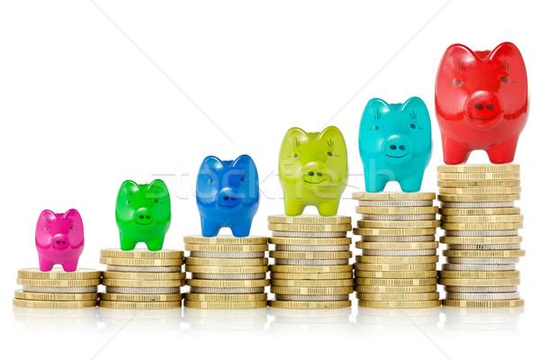 Geslaagd financiële groei banken top Stockfoto © Grazvydas