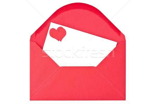 Umschlag Liebe Schreiben isoliert weiß Hochzeit Stock foto © Grazvydas