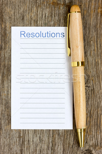 Pen and notepad list for resolutions Stock photo © Grazvydas